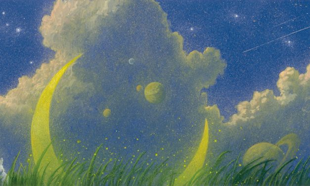 """""""Ladder to the Moon"""" by Naoko Awa,  illus. by Toshio Ebine"""
